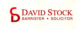 David Stock Barrister & Solicitor